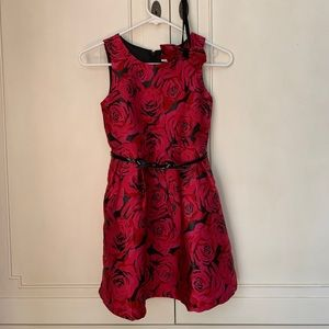Girl's special occasion dress with belt/headband.